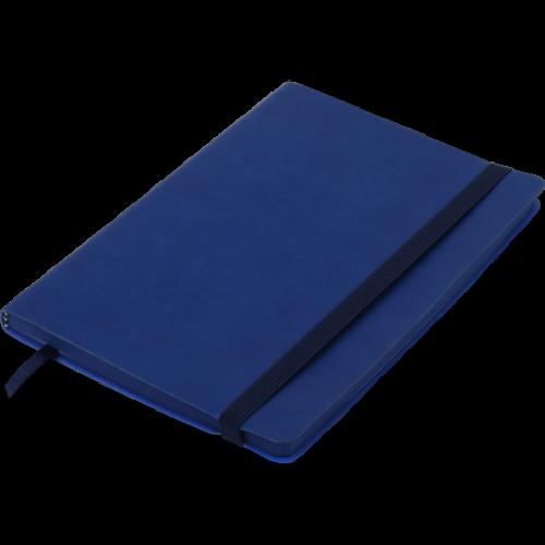 Блокнот деловой BRIEF А5, 96л., чистый, обложка искусственная кожа, синий