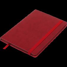 Блокнот деловой BRIEF А5, 96л., линия, обложка искусственная кожа, красный