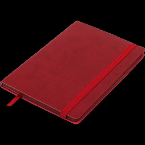 Блокнот деловой BRIEF А5, 96л., чистый, обложка искусственная кожа, красный