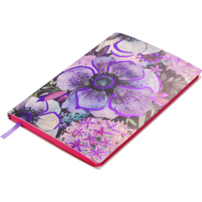 Блокнот деловой CHERIE А5, 96л., линия, обложка искусственная кожа, фиолетовый