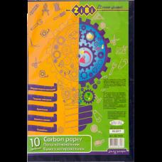Бумага копировальная синяя, A4, 10 листов, KIDS Line