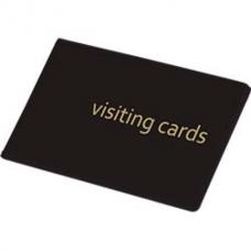 Визитница на кольцах Panta Plast на 24 визиток, ПВХ, черная
