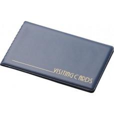 Визитница на кольцах Panta Plast на 24 визиток, ПВХ, темно-синяя