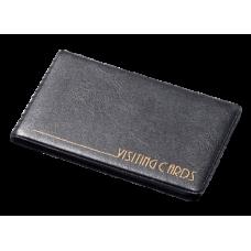 Визитница Panta Plast на 24 визиток, винил, черная