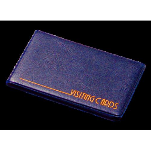 Визитница на кольцах Panta Plast на 24 визиток, винил, темно-синяя