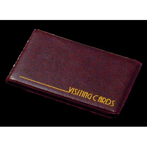 Визитница на кольцах Panta Plast на 24 визиток, винил, бордовая