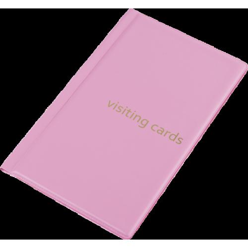 Визитница для 60 визиток, PVC, розовый