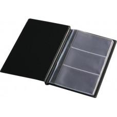 Визитница для 60 визиток, винил, черная