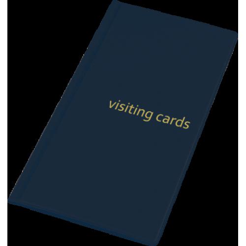 Визитница для 96 визиток, PVC, темно-синяя