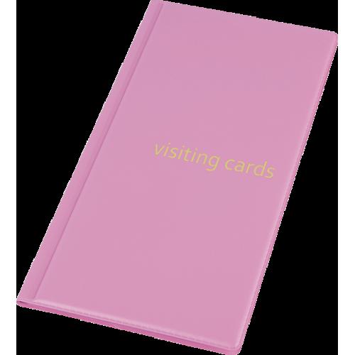 Визитница для 96 визиток, PVC, фиолетовый