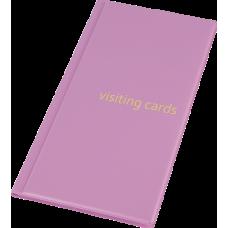 Визитница для 96 визиток, PVC, розовый