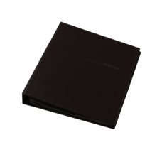Визитница для 400 визиток на кольцах, винил, черная