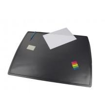 Подкладка для письма двухслойная с клапаном, черный