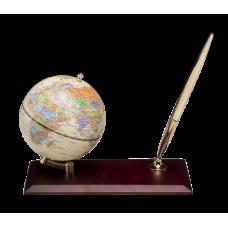 Глобус настольный с ручкой, красное дерево