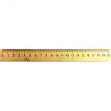 Линейка деревянная 20 см (шелкография)