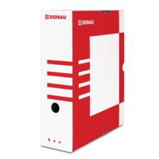 Бокс для архивации документов,100 мм, DONAU, красный