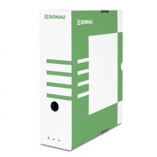 Бокс для архивации документов,100 мм, DONAU, зеленый