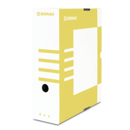 Бокс для архивации документов,100 мм, DONAU, желтый