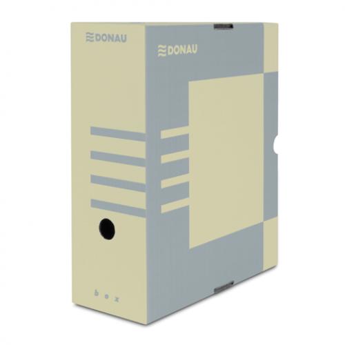 Бокс для архивации документов,120 мм, DONAU, коричневый