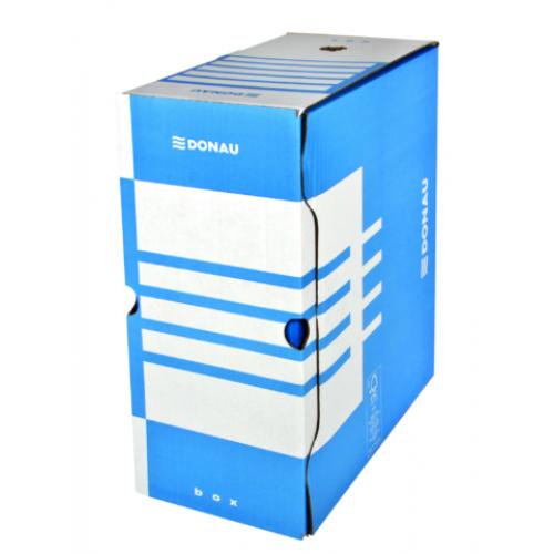 Бокс для архивации документов,155 мм, DONAU, синий