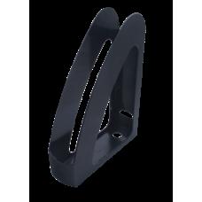 """Лоток пласт. вертикальный """"Радуга"""",передняя стенка, JOBMAX, черный"""