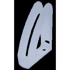 """Лоток пласт. вертикальный """"Радуга"""",передняя стенка, JOBMAX, прозрачный"""