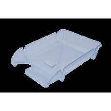 """Лоток пластиковый горизонтальный """"Компакт"""" JOBMAX, прозрачный"""