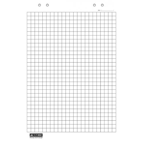 Блок бумаги для флипчартов, 10листов, клетка, 64 х 90см