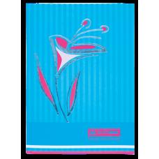 Книга канцелярская FLOWERS, А4, 80 листов, клетка, голубой
