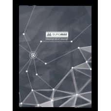 Книга канцелярская PYRAMIDS, А4, 96 листов, клетка, серый