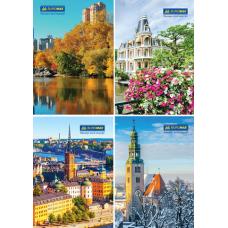 Книга канцелярская «Города. Сезоны» JOBMAX, А4, 96 листов, клетка