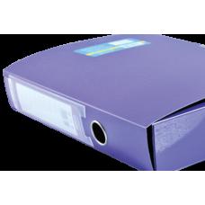 Папка-бокс на липучке METALLIC, двухслойная, фиолетовый