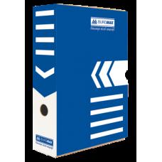 Бокс для архивации документов 80 мм, BUROMAX, синий