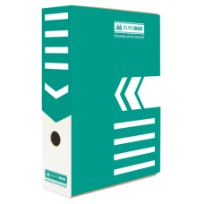 Бокс для архивации документов 80 мм, BUROMAX, бирюзовый
