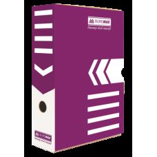 Бокс для архивации документов 80 мм, BUROMAX, фиолетовый