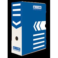 Бокс для архивации документов 100 мм, BUROMAX, синий