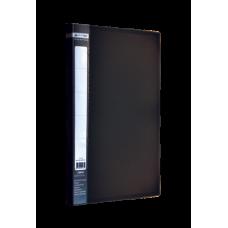Папка пластиковая A4 с боковым прижимом JOBMAX, черный