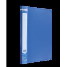 Папка пластиковая A4 с боковым прижимом JOBMAX, синий