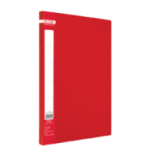 Папка пластиковая A4 с боковым прижимом JOBMAX, красный