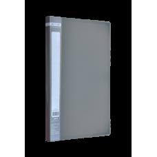 Папка пластиковая A4 с боковым прижимом JOBMAX, серый