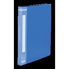 Папка пластиковая A4 с боковым прижимом, синий