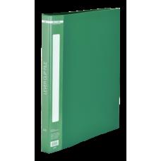 Папка пластиковая A4 с боковым прижимом, зеленый