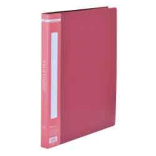 Папка пластиковая A4 с боковым прижимом, красный