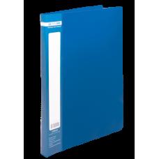Папка пластиковая А4 со скоросшивателем, JOBMAX, синий