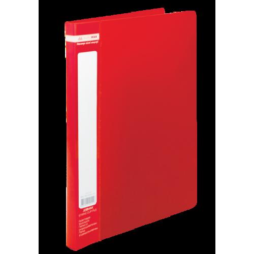 Папка пластиковая А4 со скоросшивателем, JOBMAX, красный