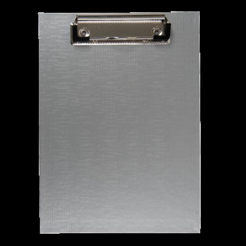 Клипборд BUROMAX, А5, PVC, серый