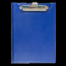 Клипборд-папка BUROMAX, А5, PVC, темно-синий