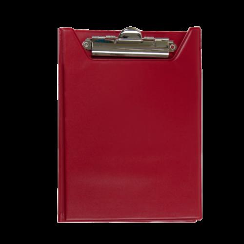 Клипборд-папка BUROMAX, А5, PVC, красный