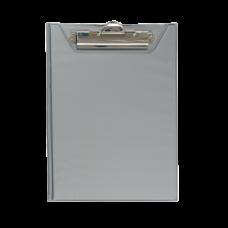 Клипборд-папка BUROMAX, А5, PVC, серый