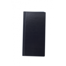 Визитница виниловая BUROMAX на 96 визиток, темно-синий